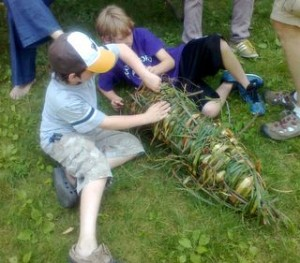 Otter Day Camp Fish Trap 2012